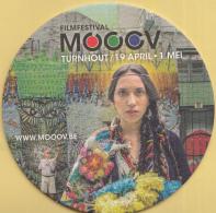 België - Filmfestival MOOOV - Turnhout 19 April- 1 Mei 2016 - Ongebruikt Exemplaar - Bierviltjes