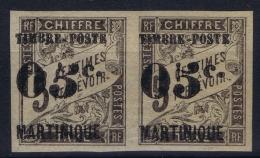 Martinique:  Yv Nr  19 + 19a Tenant  MH/* Falz/ Charniere - Martinique (1886-1947)