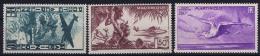 Martinique: Yv AE 13-15  MH/* Falz/ Charniere - Airmail