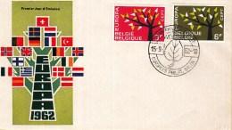 CEPT - FDC België - Europees Philat. Salon - Woluwe 15-09-1962 - Michel 1282 - 1283 - 1962