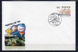 COREE DU SUD - SOUTH KOREA - ENVELOPPE PREMIER JOUR - FDC - EXPO 93 - 1992 - 2 - - Corée Du Sud
