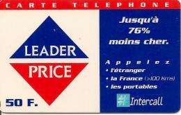 CARTE-PREPAYEE-50F-31/12/ 2000-INTERCALL-LEADER PRICE-TELEPHONE A PRIX REDUIT-TBE- - Altre Schede Prepagate