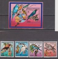 REPÚBLICA CENTRO AFRICANA 1988. BOY SCOUT - BIRDS. H.B. + SERIE. NUEVO - MNH ** - República Centroafricana