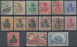 Allemagne Empire, N° 81/93 (jusqu'au 2 Mark), Fil Losanges, Dont TB Oblitérations - Deutschland