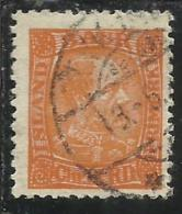 ISLANDA ICELAND ISLANDE 1902 1904 KING CHRISTIAN IX RE ORANGE 3a 3 USATO USED OBLITERE´ - Oblitérés
