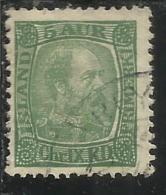 ISLANDA ICELAND ISLANDE 1902 1904 KING CHRISTIAN IX RE 5a 5 USATO USED OBLITERE´ - Oblitérés