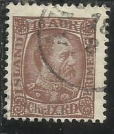 ISLANDA ICELAND ISLANDE 1902 1904 KING CHRISTIAN IX RE 16a 16 USATO USED OBLITERE´ - Oblitérés
