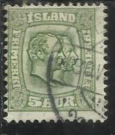 ISLANDA ICELAND ISLANDE 1907 1908 KING CHRISTIAN IX AND FREDERIK VIII RE 5a 5 USATO USED OBLITERE´ - Oblitérés