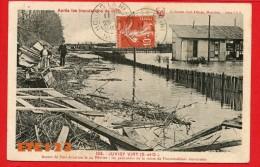 Juvisy Viry - Aspect De Port Aviation Le 24 Février 1910 - Après Les Inondations - Les Palissades De La Route De Fontain - Juvisy-sur-Orge