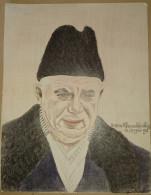 Dessin Au Crayon-Illustrateur -Nikita Khrouchtchev Homme Politique  (4) - Dessins