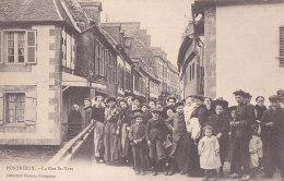 Ay - Rare Cpa PONTRIEUX - La Rue St Yves (très Animée) - Pontrieux