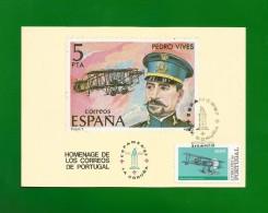 Portugal / Spanien 1987 Mi.Nr. 1577 , HOMAGE DE LOS CORREOS DE PORTUGAL - Maximum Karte - ESPAMER'87 - 2a12 De OUT.87 - Cartes-maximum (CM)