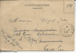 De Savannakhet Laos Carte-lettre FM Poste Aux Armées TOE 1949 - Vietnamkrieg/Indochinakrieg