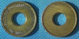 02430 GETTONE TOKEN JETON SALZGITTER WIRTSCHAFTSBETRIEBE DM 0,25 HOLED - Zonder Classificatie