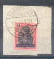 SARRE OCCUPATION FRANCAISE YEAR 1920 SAAR YVERT NR. 16 OBLITERE 1920 TBE SUR PAPIER - Gebruikt
