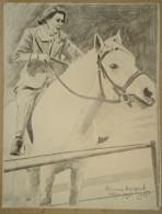 Dessin Au Crayon-Illustrateur -Princesse Margaret à Cheval (4) - Drawings