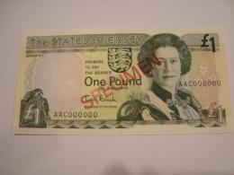 Jersey - 1 Billet De 1 Note Of  1 £ Pound - SPECIMEN -  Neuf/UNC - Jersey