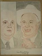 Dessin Au Crayon-Illustrateur -Nikita Khrouchtchev Homme Politique  (4) - Drawings