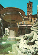 Roma (Lazio) Basilica Di Santa Maria In Trastevere, Fontana, Fountain And Basilica Of St. Mary In Trastevere - Churches
