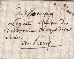 DROME - 25 DONZERE - LETTRE ENTETE DU JUGE DE PAIX DE PIERRELATTE LE 3-3-1812 - AVEC SIGNATURE ET LONG TEXTE - Marcophilie (Lettres)