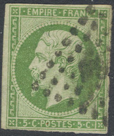 # French Colonies    8,  Used, 4 NMargins, Sound,  Michel  10 (frco008-9.      [16-DTY - Napoleon III