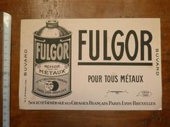 Buvard Fulgor Pour Métaux - Société Générale Des Cirages Français - Blotters