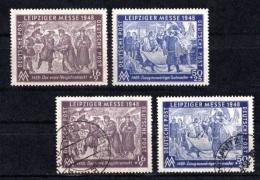 1948 GERMANY SOVIET ZONE LEIPZIG FAIR MICHEL: 198-199 MNH ** SET & USED SET - Zone Soviétique