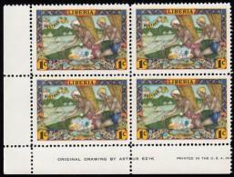LIBERIA - Scott #309 Natives Approaching Village  Mint NH Plate Block Of 4 Stamps LL (PB1289) - Liberia