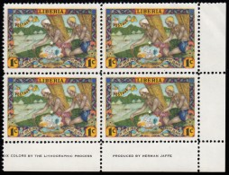 LIBERIA - Scott #309 Natives Approaching Village  Mint NH Plate Block Of 4 Stamps LR (PB1290) - Liberia