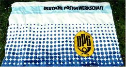 Größere Fahne DPG  Deutsche Post Gewerkschaft  -  Material : Polyester  -  Größe Ca. 240 X 150 Cm - Andere Sammlungen