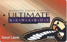 """Dancing Eagle Casino Acoma, NM - 5th Issue Slot Card - Last Line Starts """"and Must Be 21.."""" - Casino Cards"""
