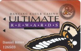 Dancing Eagle Casino Acoma, NM - 7th Issue Slot Card - Longer Line Text Over Mag Stripe - Casino Cards