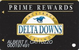 Delta Downs Racetrack Vinton, LA - 3rd Issue Slot Card - No Text Over Mag Stripe -diff Rev Text - Cartes De Casino