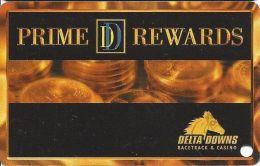 Delta Downs Racetrack Vinton, LA - 4th Issue Slot Card (BLANK) - Casino Cards