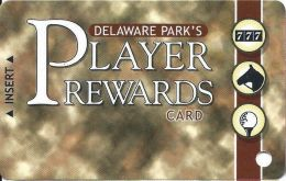 Delaware Park Racetrack & Slots Stanton, DE - Slot Card - Brown Tint (BLANK) - Casino Cards