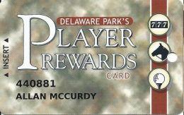 Delaware Park Racetrack & Slots Stanton, DE - Slot Card - Grey Tint - Casino Cards