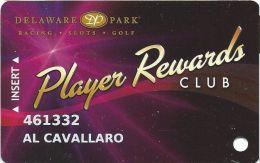 Delaware Park Racing & Slots Stanton, DE - Slot Card - Brown Mag Stripe - Casino Cards