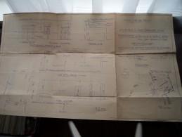 Commune De NIMY Rue GRANDE N° 316 ( Réconstruction ) Schaal 1/1250 - Anno 1952 ( Zie Foto´s Voor Detail ) ! - Architectuur