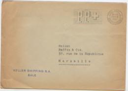 Enveloppe, Suisse, Port Payé, PP, EMA, De Bale, Basel Briefversand à Marseille, 1967, Keller Shipping SA Agence Maritime - Suisse