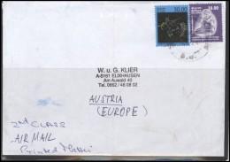 SRI LANKA Letter Brief Postal History Cover LK 001 Air Mail Zodiac Signs Music Player - Sri Lanka (Ceylon) (1948-...)