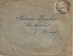 ENVELOPPE.CACHET  BERGERAC.TIMBRE TYPE ORPHELIN.N°150 - Postmark Collection (Covers)