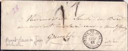 DROME - ST PAUL TROIS CHATEAUX - LE 29-6-1850 - TAXE MANUSCRITE - AVANT DERNIER JOUR DU TARIF - DECHIRURE D'OUVERTURE. - Postmark Collection (Covers)