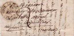 """DROME - LE BUIS - T11 DU 18-11-1839 - TAXE 2 POUR CARPENTRAS - MANUSCRIT """"TRES PRESSEE"""" - AVEC LONG TEXTE - INDICE 10. - Marcophilie (Lettres)"""