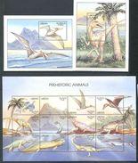 162 LIBERIA 1999 - Dinosaure Prehistoire (Yvert 2197/208 BF 247/48) Neuf ** (MNH) Sans Trace De Charniere - Liberia