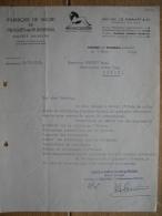 Lettre 1939 FABRIQUE DE SUCRE DE FRASNES-LEZ-BUISSENAL - Belgique