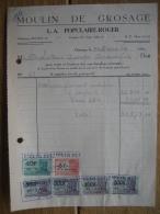 Facture 1949 GROSAGE-LEZ-BELOEIL - L.-A. POPULAIRE-ROGER - MOULIN DE GROSAGE - Bélgica
