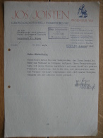 KÖLN 1942 - JOS. JOISTEN - Elektro-groshandel-industribedarf - 1900 – 1949