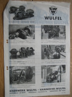 Brief + Publicité 1938 HANOVRE - WULFEL - DEN HAAG - EISENWERK WULFEL - Fabrication Des Transmissions - 1900 – 1949