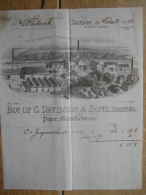 Very Nice Bill With Lithography 1885 LONDON - Bot. Of C. DAVIDSON & Sons Ltd - Paper Manufacturers - Royaume-Uni