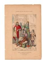 Gravure Coloriée Costumes De Paris à Travers Les Siècles Famille Noble Et Son Architecte N°2 J. PEGARD Geffroy éditeur - Prints & Engravings
